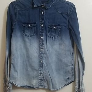 American eagle ombre pearl snap